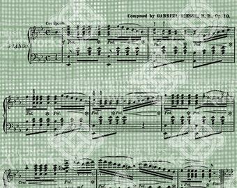 Digital Download Antique Music Wedding March Bridal Song Vintage Graphic Digi Stamp