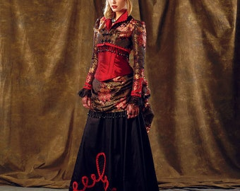 Sewing Pattern-McCall's 6911-Steampunk Bolero,Top, Corset and Bustle Skirt-Plus Size 14-22