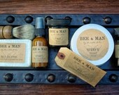 MEN'S Grooming Collection | Shave Soap, Brush, Aftershave Balm, Bath + Body Bar, Face Toner, Face Balm/Moisturizer | Full Sized Gift Kit/Set