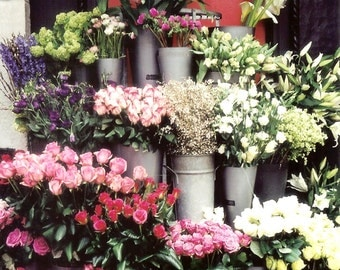 Liberty of London Flower Market - Flower Market Bouquets - Spring Flowers - Original Color Film Photograph by Suzanne MacCrone Rogers