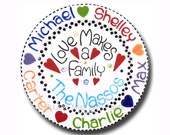 11 inch Personalized Family Plate - Love Makes a Family