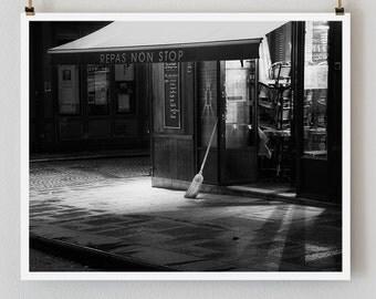 """Paris Print, Black and White Photography, """"Paris Noir 10"""" Extra Large Wall Art, Fine Art Print Paris Photography,  Film Noir"""