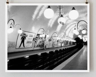 """Paris Print, Black and White Photography, """"Paris Noir 9"""" Extra Large Wall Art, Fine Art Print Paris Photography, Romantic Art, Film Noir"""