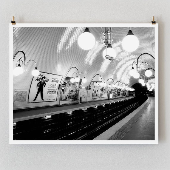 "Paris Print, Black and White Photography, ""Paris Noir 9"" Extra Large Wall Art, Fine Art Print Paris Photography, Film Noir"