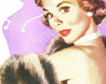 Vintage Magazine Print - Short Story Art - Magazine Illustration - Jon Whitcomb - Vintage Story Art - Journal 1954