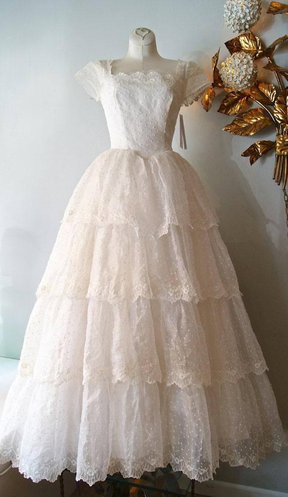 Vintage 1950 39 S Wedding Dress 50s Wedding Dress By