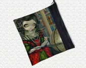 Jasmine Becket-Griffith I Vampiri: Vampire Librarian zippered pouch cosmetics bag wristlet, travel bag,