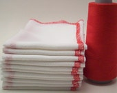 Red Unpaper Towels - Reusable Birds Eye Cotton Paper Towel Alternative