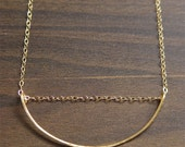 ON SALE Geometric Moon Gold Necklace