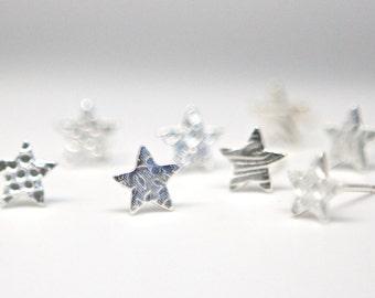 Small Silver Earrings Star Posts Gift for Coach Stargazer Teen Tween Teenager Little Girl Super Star Studs Simple Sophisticated Earrings