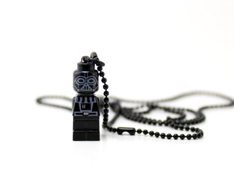 Darth Vader Necklace, made from LEGO ® Star Wars Microfig