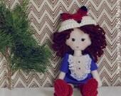 Doll Sewing Felt Pattern Fox Pdf - felt miniature hand sewn and crochet PHOTO TUTORIAL  - Instant DOWNLOAD