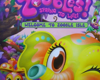 Sticker Stories, Zoobles! Spring to life, Welcome to Zooble Isle. 75 reusable stickers #75