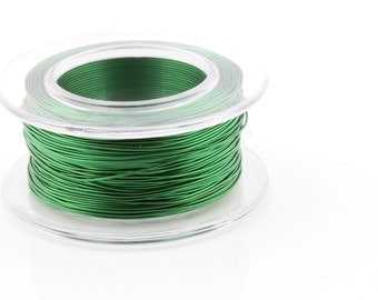 25% OFF!! WIRE - 18g (AWG) Green Enameled Copper Wire - 7 yard spool