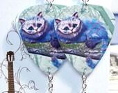 Cheshire Cat Guitar Pick Earrings
