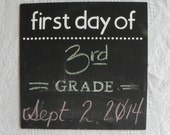 First/Last Day Chalkboard Sign---photo prop