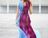 Pencil maxi felted dress. Long evening dress Seamless Felted cabernet burgundy blue gown, OOAK felted Dress DC Fashion week