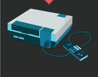 Nintendo Love Print
