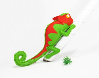Chameleon animal curtain tiebacks Nursery decor Curtain belts - MADE TO ORDER