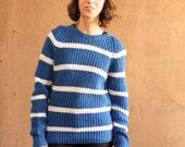 NIRVANA grunge 90s simple STRIPED grunge SLOUCHY warm sweater
