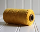 1 Spool (240 yds) of Yellow Solid Color Divine Twine Baker's Twine - 4-ply, 100% Cotton, Made in the USA