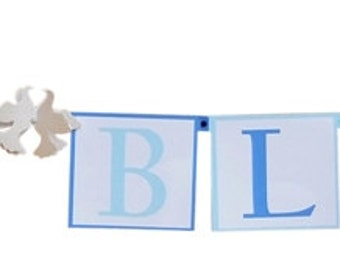 Baptism Dove Decorations - Communion Decorations - God Bless Banner - Choice of Colors