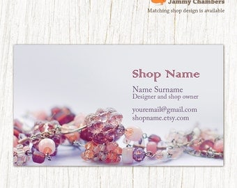 Business Card Template For Jewelry And Retail Store Order Custom - Custom business card template