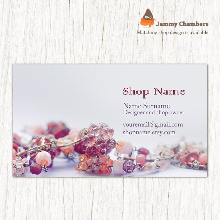 business card template printable diy thank you card beaded