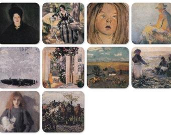 Polish Art. Set of 10 Vintage Prints, Postcards - 1970s-1980s