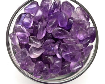 20 gm Small Gemmy AMETHYST Lilac Bolivia Tumbled Stones (7 - 8 stones)  Crystal Jewelry & Crafts, Healing Crystals and Stones #GA13
