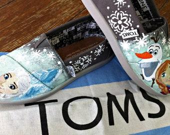 Disney Frozen Custom Toms, Olaf, Anna, Elsa