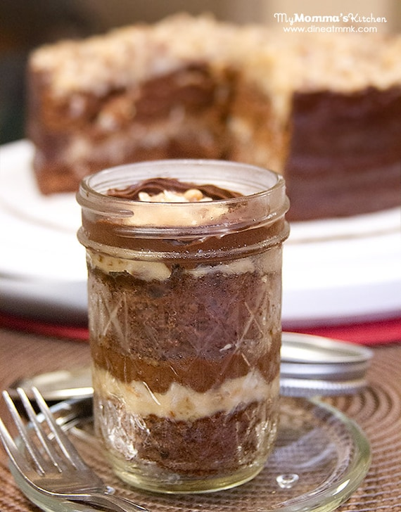 German Chocolate Cake with Coconut Pecan Filling and Milk Chocolate ...