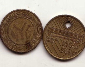 Complete set of NYC Subway Tokens. 1953 - 1995.