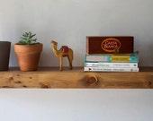 "Floating Shelf - Reclaimed Wood Face - Modern Book Shelf - Rustic Modern Home - 36"""