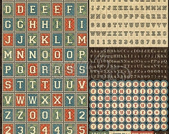 "Sale-Graphic 45 ""Good Ol' Sport Alphabet Stickers"""