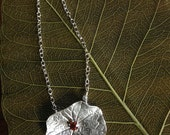 Nasturtium Necklace in Sterling Silver with 3mm Garnet