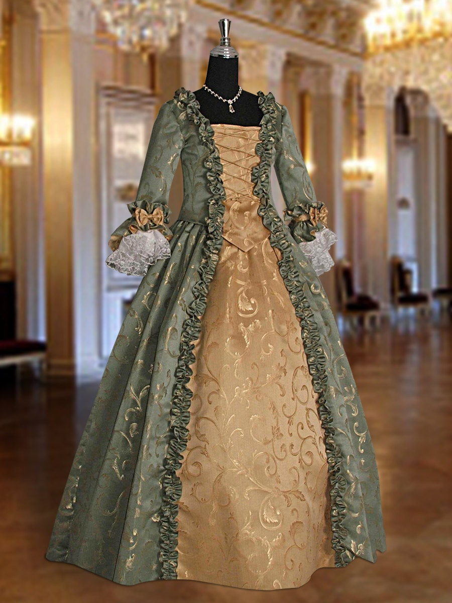 baroque renaissance masquerade dress no 3 green. Black Bedroom Furniture Sets. Home Design Ideas