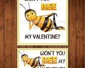 Printable Bee Movie Valentine Tags & Cards