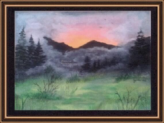 11 x 14      Misty Mountain    Fine Art Print