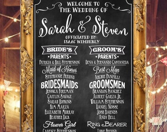 Wedding Program Chalkboard Sign DIGITAL Print