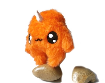 Fluse Kawaii Plush Monster Unicorn Orange
