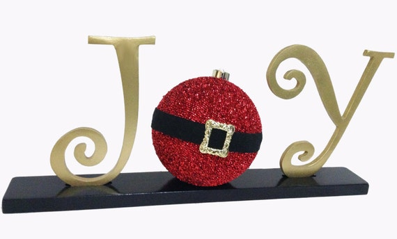 Christmas Decoration JOY Letters, !!SALE!! Santa, Handmade