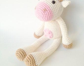 Cow Plush, Cow Stuffed Animal, Cow Plushie, Cow Stuffed Toy, Crochet Cow, Knit Cow, Farm Animals