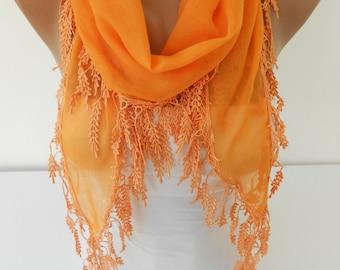 Valentines Gift For Her Halloween Scarf Shawl Pumpkin Orange Scarf Soft Scarf Trending Items Spring Summer Fall Women's Fashion Accessories