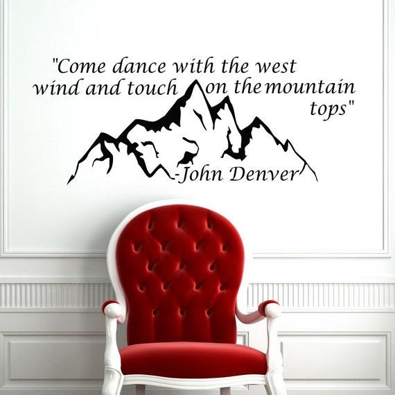 Home Quote John Denver Decal Housewares Wall Vinyl Sticker