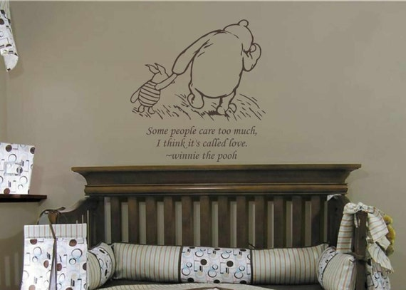 Items similar to classic winnie the pooh wall decal pooh for Classic pooh wall mural