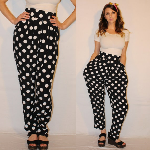 Find black and white polka dot pants at ShopStyle. Shop the latest collection of black and white polka dot pants from the most popular stores - all in.
