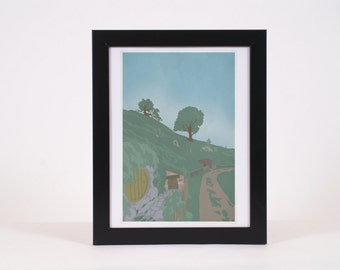 Vintage Shire Lord of the Rings -inspired print