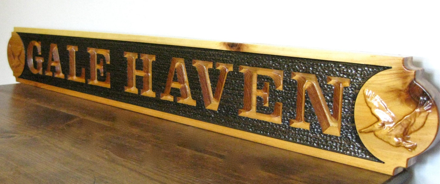 custom outdoor name signs cedar wood carved signs house name