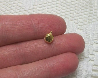 30 pc. Small Gold Bell charm, 6mm, shiny gold finish